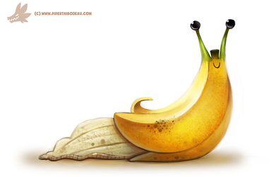 Daily Painting #969. Banana Slug (OG) by Cryptid-Creations