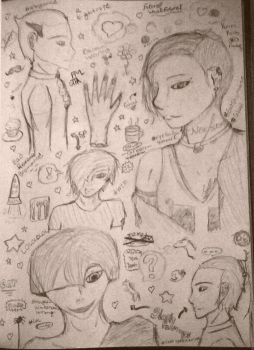 Doodle page #1 by BloodySilverSoul