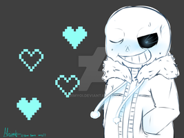Dont fight me ! Sans Fanart ((sketchy) by Mimyoi