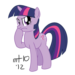 Twilight Sparkle Thinking by empty-10