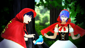 KAITO and PacKAITO in the Red-Hood [DL] by YaitaSake