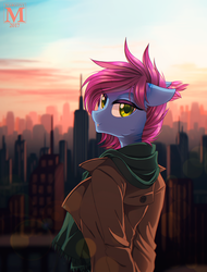 Urban sunset by Margony
