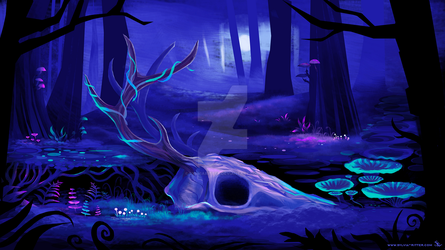 Enchanted Forest Game Concept Art by SylviaRitter