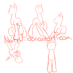 Pony Poses Refence Sheet by nyfian
