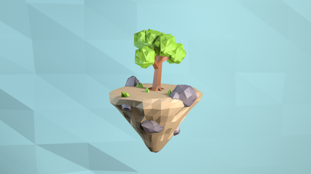 Low poly island by arrioch