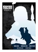 Empire Strikes Back Poster by taggraphics