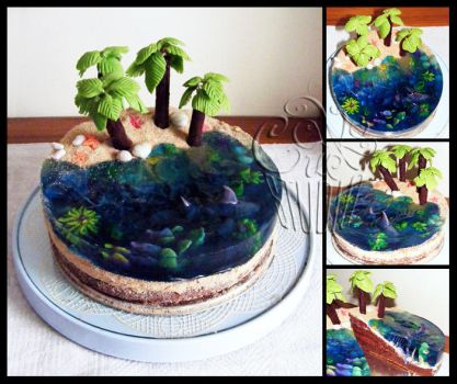 for Sis 2012 - Laguna Cake by CakeUpStudio