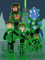 Lil' Green and the Green Lantern Corps by MCsaurus
