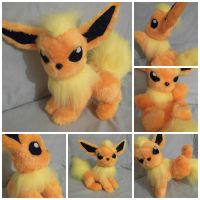 Custom plush Pokemon Flareon