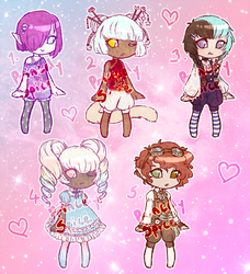Chibi Adopts Batch 1 (SOLD!) by Princely-Spice