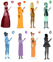 A Rainbow of Diamonds Adopts (7/8 OPEN) by p0ssum-adopts