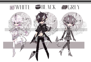 [CS] Malevoli SET PRICE MONOCHROME BATCH (CLOSED) by acidicchoco