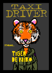 Taxi Driver Tiger by AlexEvansArt