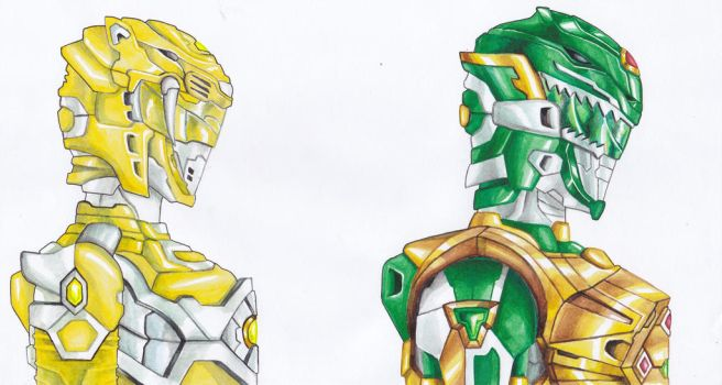 Green And Yellow Ranger by AY3X