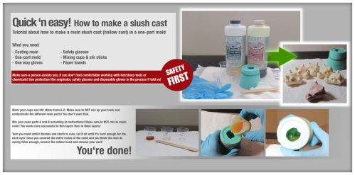 How to make a resin cast in a one-part mold by LimitlessEndeavours