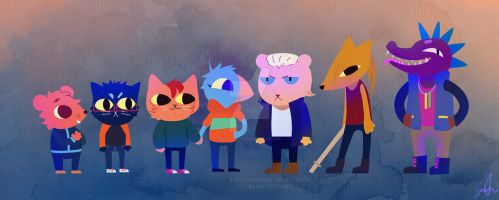 Night in the Woods with the Gang by Innocent-raiN
