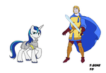Shining Armor and Captain Phoebus by T-boneYo