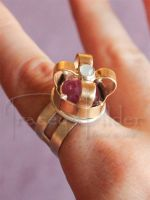 Gold Crown Ring by TraceyWilderJewelry