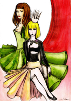 Lady Gaga and Lady Beyonce by MikaMaus
