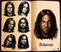 Acheron face sketches by UnicatStudio