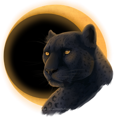 [Speedpaint 2] Moon Panther by TheVerdantHare