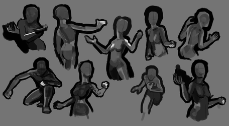 Magic: The Gathering Gestures by JustDayside