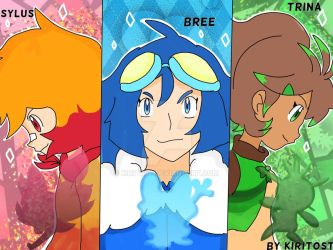 The mighty Kalos Trainer Trio! by Kiritost