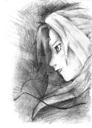 Tsunade Charcoal by AlexPope