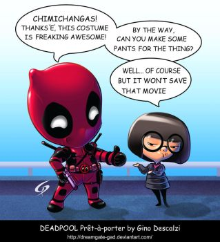 Deadpool pret a porter By Gino Descalzi by Dreamgate-Gad