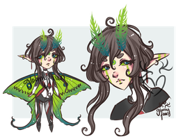 [closed] auction - comet moth by GloomyFawn