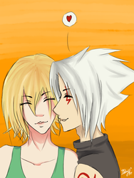 Request for Butterflygirl20:Haseo and Atoli couple by PandaBear911