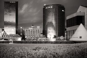 JW Marriott and Amway Grand (930nm IR @ night) by KBeezie