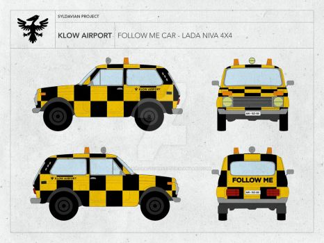 KLOW AIRPORT - FOLLOW ME CAR - LADA NIVA by droneaircraftconcept