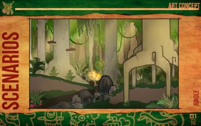 Aztec Xilo_Art Concept - Jungle by Team4Taken