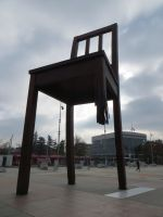 Broken Chair on the Place des Nations, Geneva by us-them