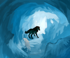 Ice cavern by emias