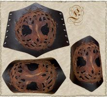 Leather wristband 19 by Eternal-designs-com