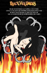 Black Veil Brides Fallen Angel Poster by Hollena