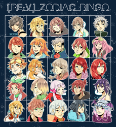 RE:V | Zodiac BINGO by kooricoo