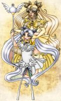 Art Trade: Silver and gold by elila