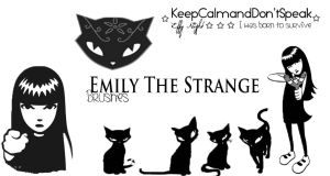 Emily The Strange Brushes by KeepCalmandDontSpeak