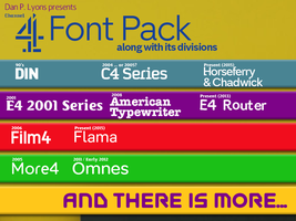 Channel 4 Font Pack by DLEDeviant