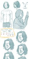 More Snape Doodles by staypee