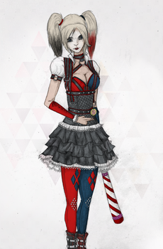 Arkham Knight Harley Colored by DerekClyde