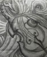 swirly cello bird by sirkles