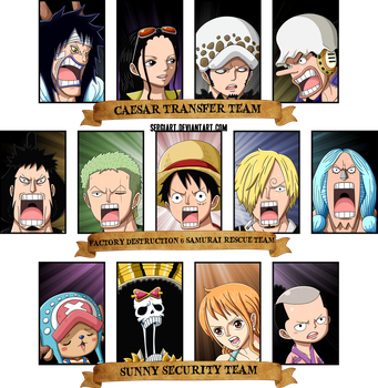 One Piece 701 - Three groups by SergiART