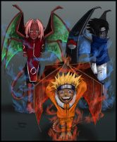 ..+Team 7 as Gargoyles+.. by LainDragon