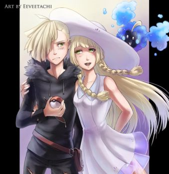 Gladion and Lillie by Eeveetachi