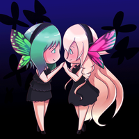 Gumi and IA magnet by the-electric-mage