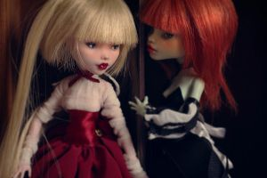 Lucy and Francine OOAK Monster High doll by Szklanooka